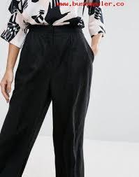 imagenes negro rico pantalones de lino de pernera ancha de asos ropa mujer negro tejido