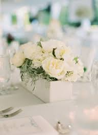 Wood Box Centerpiece by White And Cream Flowers In Wooden Box Centerpiece 1 Wooden Box