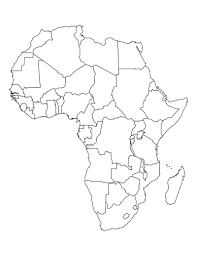 africa map drawing blank map of africa map of usa states