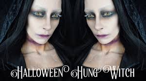 halloween makeup tutorial creepy hung witch ghoul youtube