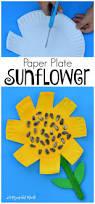paper plate sunflower craft sunflower crafts fall preschool and