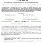 personal training resume no experience best template collection