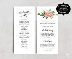 printable wedding programs best 25 wedding program templates ideas on fan