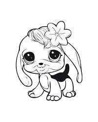 littlest pet shop coloring pages dog coloring kids