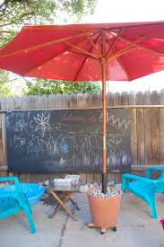 Paint Patio Umbrella I Made This Rolling Patio Umbrella Base Decking Backyard And