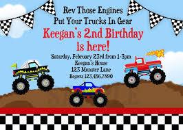 birthday invitation card truck birthday invitations