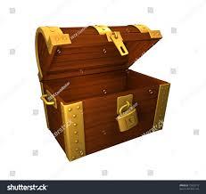 open empty treasure chest on white stock illustration 13325773