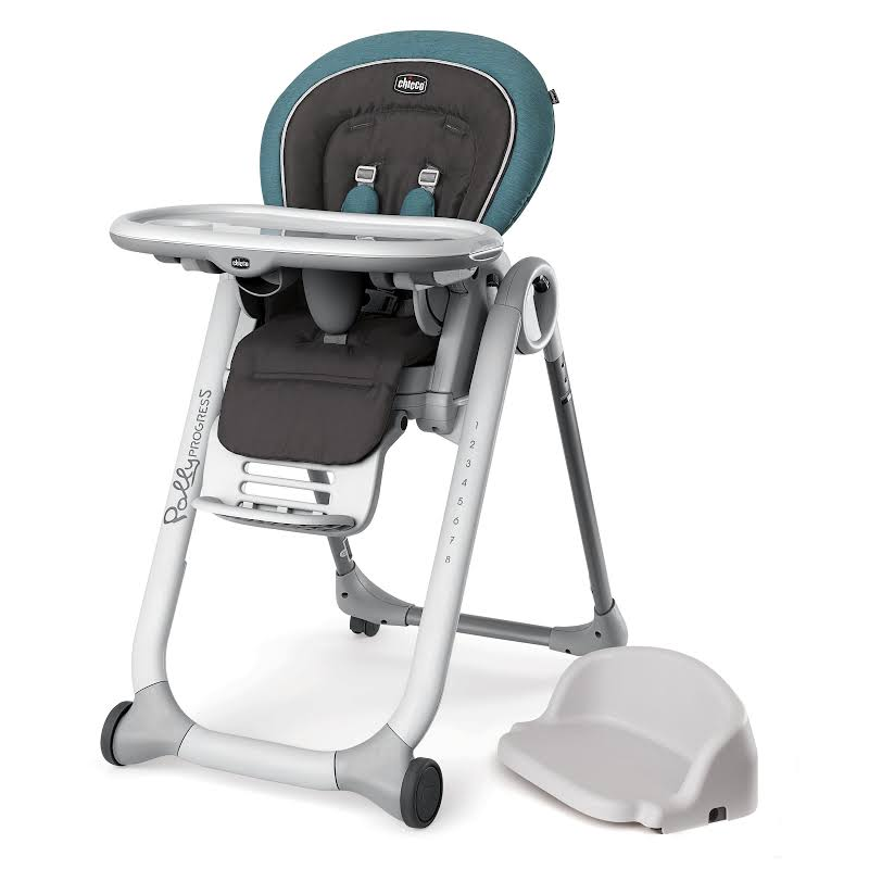 Chicco Polly Progress 5-in-1 Adjustable Booster Baby/toddler Highchair, Calypso