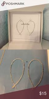 hammered hoops stella dot hammered wire large hoops 44 i these