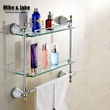 Bathroom Chrome Shelving by Corner Glass Shelves Promotion Shop For Promotional Corner Glass