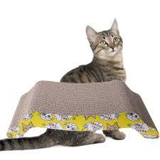 Cat Scratch Lounge U Shaped Large Cat Kitten Corrugated Scratch Board Pad Scratcher