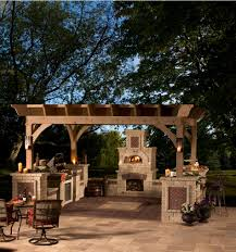 Gazebo Fire Pit Ideas by Decor Best Outdoor Patio Ideas With Winsome Unilock Fireplace