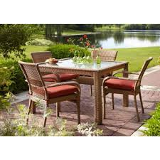 Hampton Bay Patio Dining Set - martha stewart living charlottetown natural 5 piece all weather