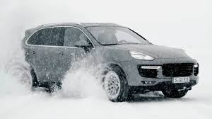 porsche snow porsche cayenne turbo s awesome snow drive youtube