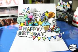 birthday popup card tutorial u2013 old stellacyan com