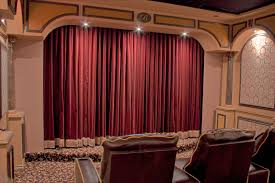 home theater curtains home theater drapes rear left curtain 2 inspiration and design