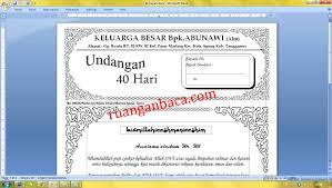 template undangan haul download format undangan tahlil 40 hari microsoft word ruanganbaca com