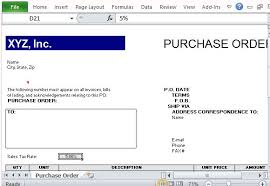 Purchase Order Template In Excel Purchase Order Template For Excel