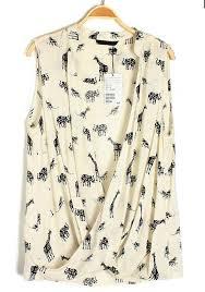 elephant blouse multicolor elephant giraffe print v neck sleeveless chiffon blouse