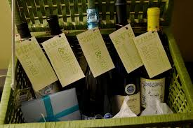 bridal shower wine basket bridal shower ideas