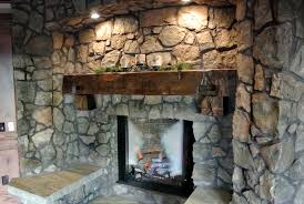rustic stone fireplaces interior raw mountain stone fireplace wall with rustic wood