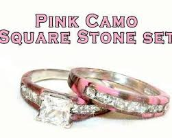 camo wedding band sets pink camo wedding ring set wedding rings wedding ideas and
