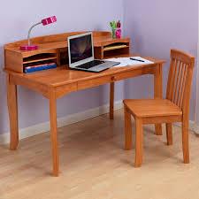 lipper writing workstation desk u0026 chair pecan hayneedle