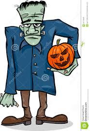 scary halloween cartoons halloween frankenstein cartoon illustration royalty free stock