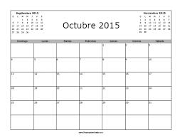 imagenes calendario octubre 2015 para imprimir calendario octubre 2015 en blanco para imprimir gratis