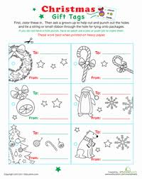 color your own christmas gift tags worksheet education com