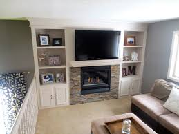 Built In Bookshelves Around Tv by Remodelaholic Fireplace Makeover With Built In Shelves