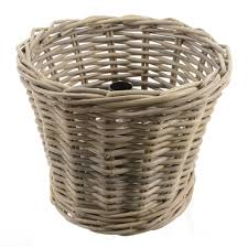rattan round tree basket grey 36 x 30cm christmas 27 49