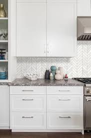 kitchen backsplash ideas 2020 for white cabinets white modern marble chevron backsplash tile backsplash