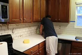 duo ventures kitchen update grouting u0026 caulking subway tile