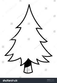 cartoon vector outline illustration fir tree stock vector 45148231