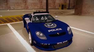 police porsche porsche carrera gt 2004 police blue for gta san andreas
