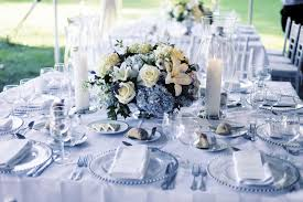 banquet centerpieces images of blue and white centerpieces for wedding table 50th