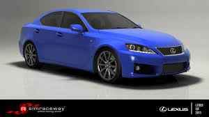 isf lexus blue simraceway lexus is f