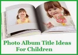 kids photo album my title
