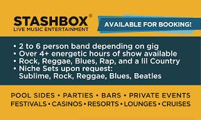 stashbox band rock reggae funk rap book for shows fort lauderdale