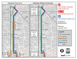Dc Metro Map Silver Line by Metrobus Service Changes June 25 Wmata
