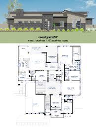 modern courtyard house plan 61custom contemporary transitional
