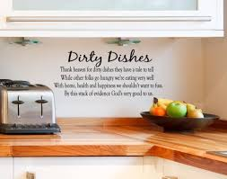 natural kitchen with wall quotes decals combined solid wood author