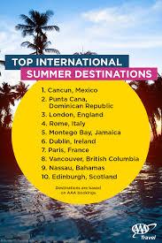 aaa travel lists top summer vacation destinations aaa newsroom