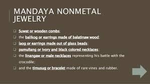 non metal earrings mandaya ethnic tribe