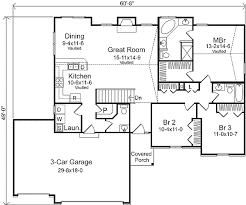 floor plans with 3 car garage ranch living with three car garage 22006sl architectural
