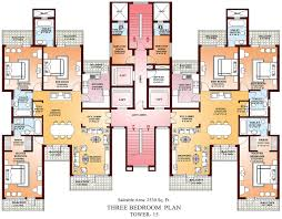 three bedroom plan with inspiration image 70684 fujizaki