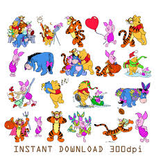 sale 126 winnie the pooh digital clipart printable pictures