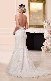 low back wedding dresses lace satin low back wedding dresses stella york