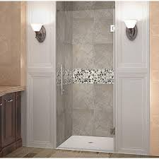 28 Shower Door Aston Cascadia 28 In X 72 In Completely Frameless Hinged Shower